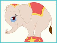 """Раскраска """"Слонёнок"""""""