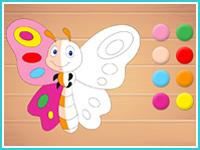 "Дополни рисунок ""Бабочка"""