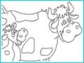 "Раскраска ""Бурёнка и телёнок"""