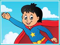 """Соедини по буквам """"Супермен"""""""