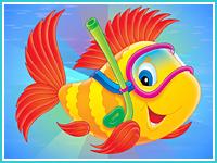"""Соедини по буквам """"Рыбка"""""""