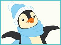 """Раскраска """"Пингвинёнок"""""""
