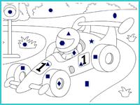 "Раскраска по фигурам ""Формула 1"""