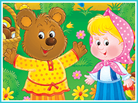 """Пазл """"Маша и три медведя"""""""