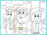 """Раскраска """"Новый год с друзьями"""""""