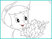 """Раскраска """"Осенние листья"""""""
