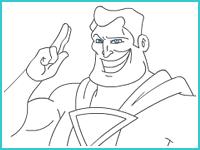"Раскраска ""Супермен"""