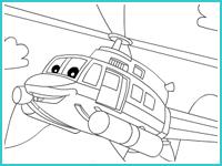 """Раскраска """"Вертолет"""""""