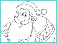 "Раскраска ""Дед Мороз"""