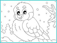 """Раскраска """"Снегирь"""""""